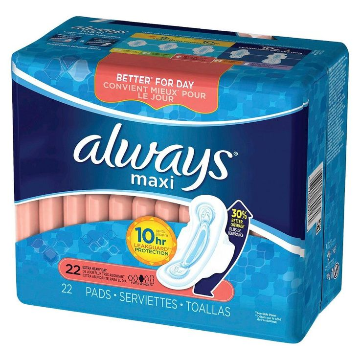 Always Maxi Pads Extra Heavy With Flexi-Wings - 22 count