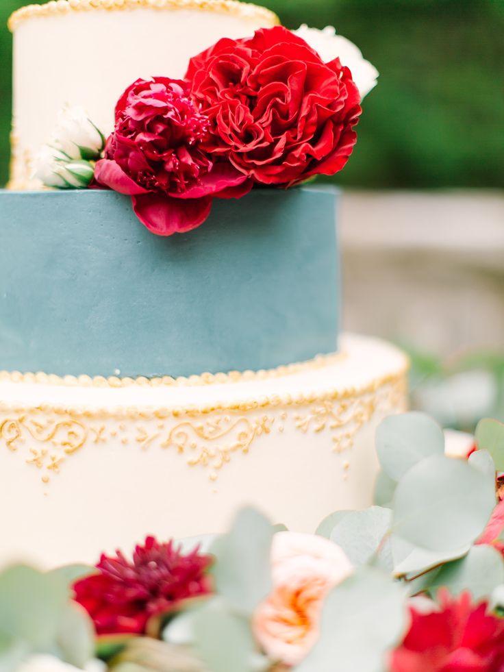 Photography: Mint Photography - mymintphotography.com Read More: http://www.stylemepretty.com/2015/02/06/romantic-cranberry-dusty-blue-wedding-inspiration/