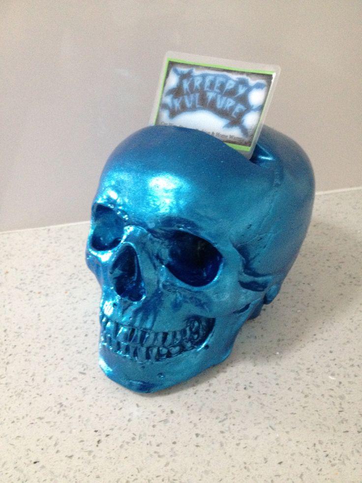Kreepy Kulture Skull business card holder