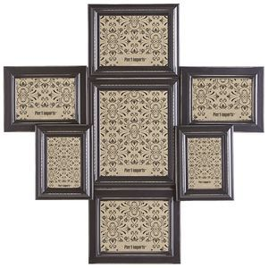 One picture may be worth a thousand words, but seven tell an epic narrative. Share all of your favorite moments in our handsome collage frame, crafted by hand of pine with detailed carvings and an antiqued charcoal finish.