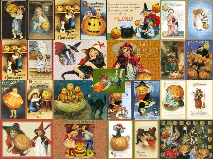old fashioned halloween cards - Old Fashion Halloween