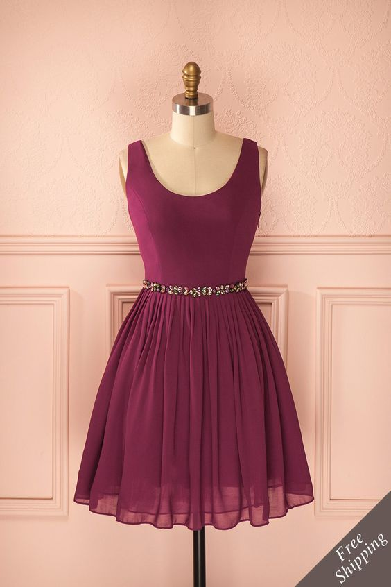 Charming Prom Dress,Chiffon Prom Dress, Short Prom Dress,Formal
