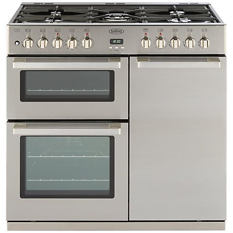 buy belling deluxe mf dual fuel range cooker stainless steel from our all cookers range at john lewis