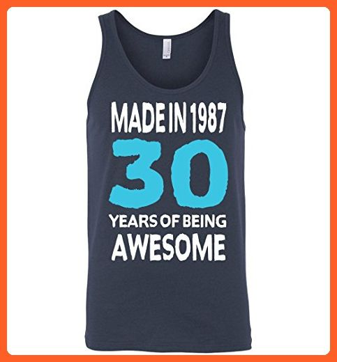30th Birthday Gift Unisex Tank Made In 1987 Awesome 30 years old - Birthday shirts (*Partner-Link)