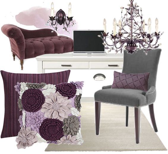 Plum & grey, throw some black in the mix and it is my all time favorite color scheme.... <3