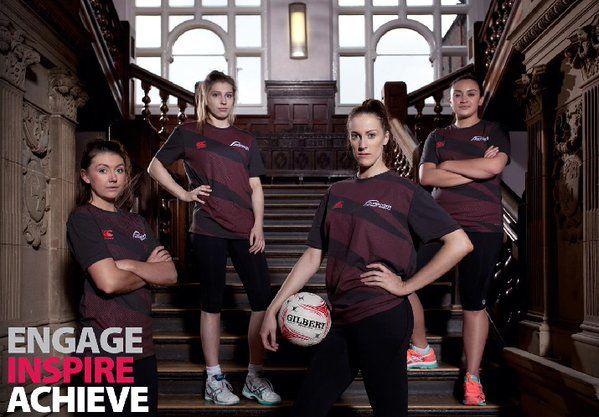 Leah with 3 team mates - Team Northumbria 2016