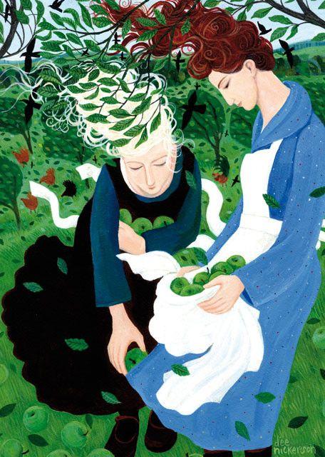 'Windfalls' By Painter Dee Nickerson. Blank Art Cards By Green Pebble. www.greenpebble.co.uk