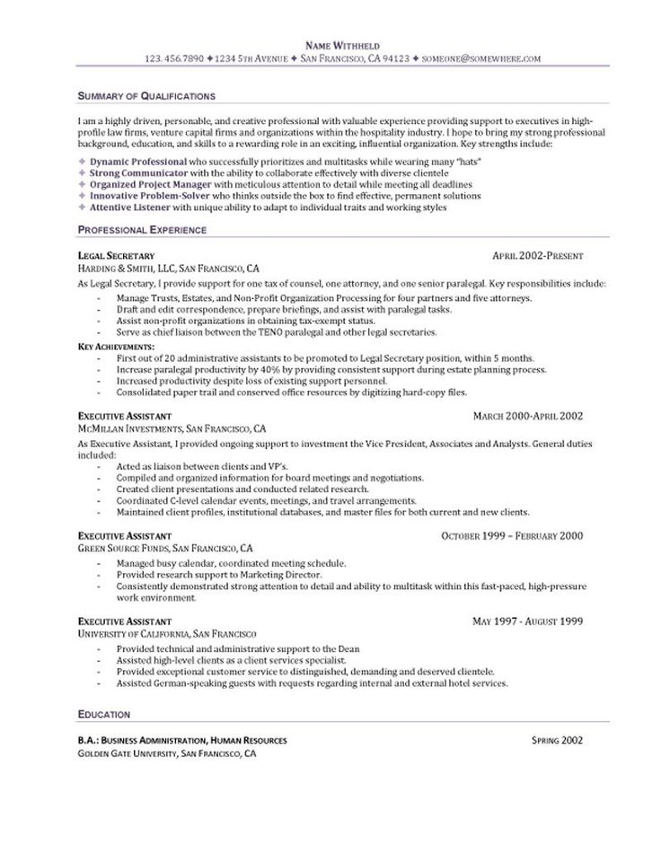 executive secretary resume sample pharmaceutical engineer objective for examples letter intent lease legal assistant profile
