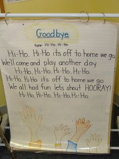 social emotional: Good bye song domain: relates, trusts, attached to the educator.  Indicator: SED3  As children leave teachers will sing the goodbye song infants will smile, wave, or blow kisses