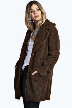 Sofia Teddy Wool Look Coat - Abrigos de piel sintetica - Abrigos y chaquetas - Ropa