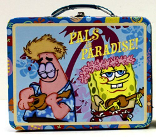 SpongeBob SquarePants Pals in Paradise Embossed Metal Lunch Box/ Carry-All @ niftywarehouse.com #NiftyWarehouse #Spongebob #SpongebobSquarepants #Cartoon #TV #Show