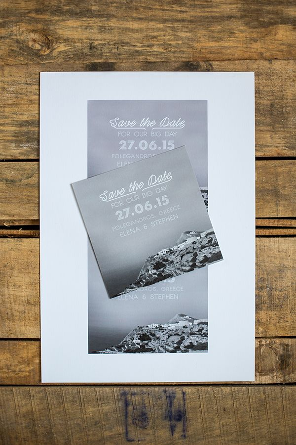 destination wedding save the dates and invitations%0A Modern chic destination wedding savethedate by Atelier Invitations