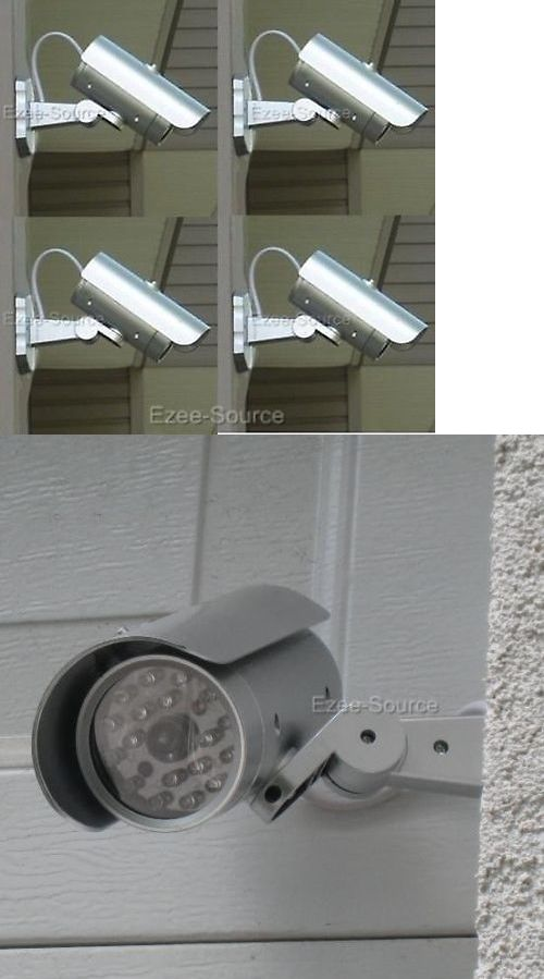 Dummy Cameras: 4 Fake Security Video Surveillance Camera W/ Led Motion BUY IT NOW ONLY: $42.01
