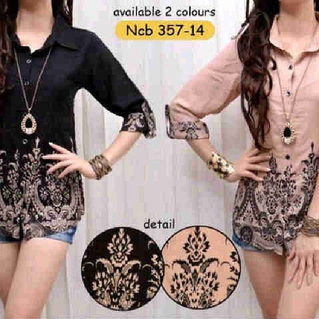 samara batik black n cream 66rb