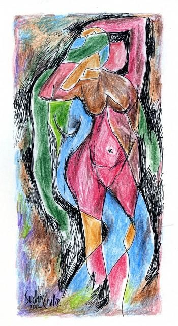 """""""Abstract Figure"""" #Creative #Art in #sketching @Touchtalent"""