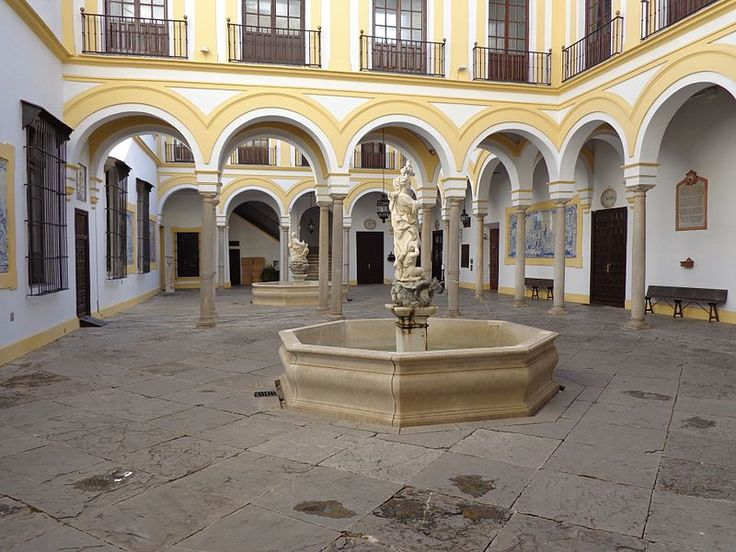 """The Hospital de la Caridad in Seville, (Spain), is a baroque charity hospital building near Plaza de toros de la Real Maestranza de Caballería de Sevilla. The charity hospital was founded in 1674, and still cares for the aged and infirm. The hospital's chapel is open to the public and """"contains some of Seville's most sumptuous baroque sculpture."""""""