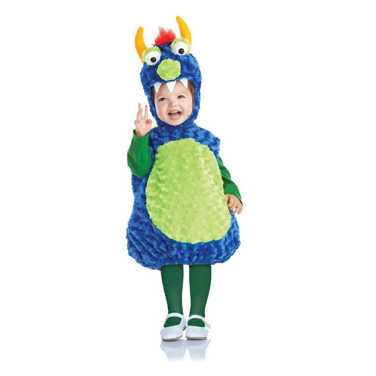 belly babies monster costume toddler kids plush halloween cute fancy dress u25976 same - Baby Monster Halloween Costumes