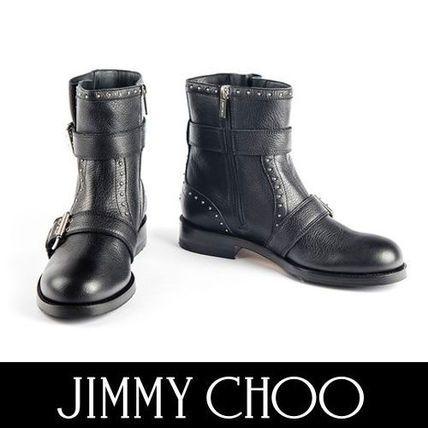 Jimmy Choo ショートブーツ・ブーティ Jimmy Choo メンズライクなスタイルに バイカーアンクルブーツ
