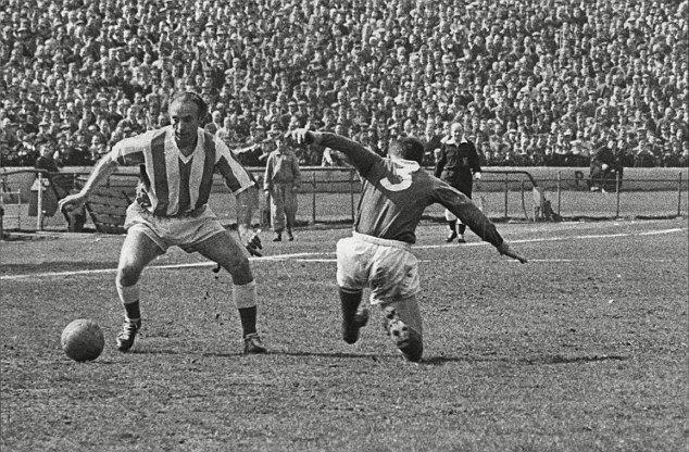 The winger Stanley Matthews bamboozling Chelsea's Eddie McCreadie in 1963