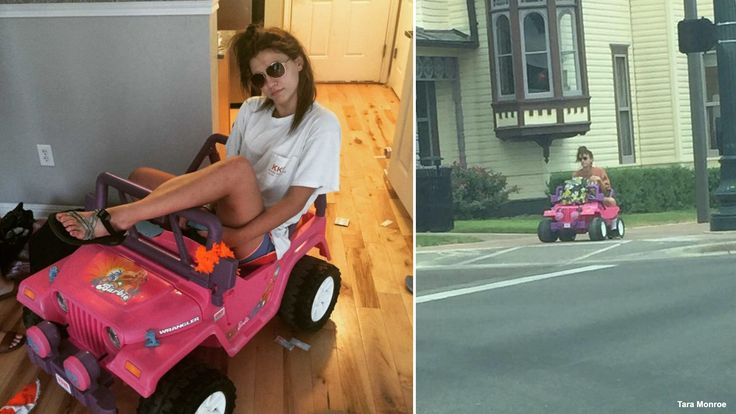 Texas student rides Barbie Jeep around campus - Story   KDFW