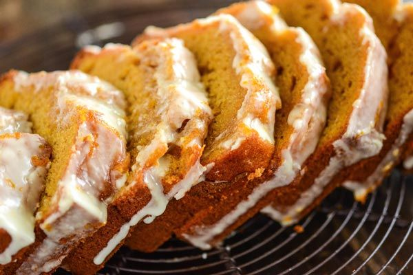 Sweet Potato Pound Cake.  I made this with one of our sweet potatoes and it was great.  Very moist and delicious!