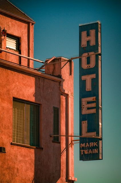 Mark Twain Hotel - side, via Flickr.