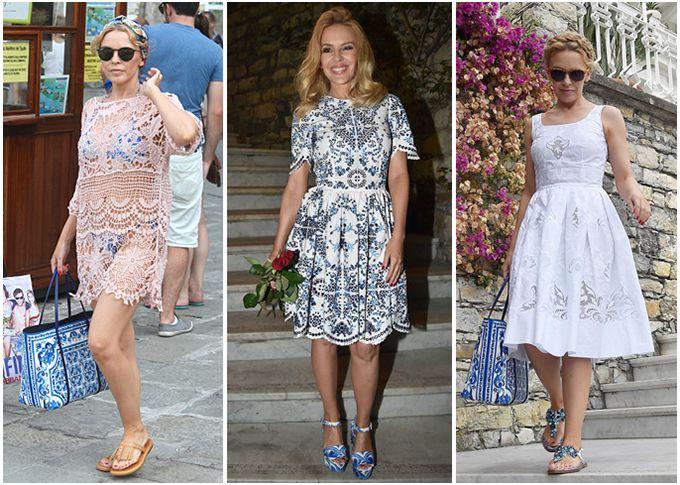 Summertime: Кайли Миноуг в нарядах Dolce & Gabbana