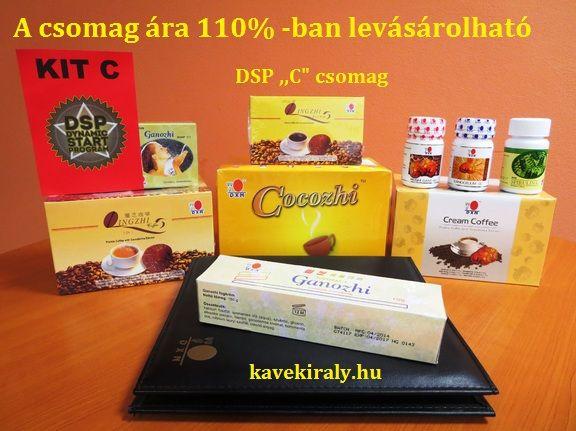 "DSP ,,C"" csomag  kavekiraly.hu A királyok kávéja a gyógynövények királyával"