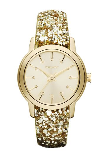 DKNY sparkle strap watch -- Gold Watch Accessory Jewelry Fashion Style