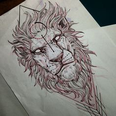 Lion @fredao_oliveira #draw #sketch #lion #blacktattooart #belohorizonte #pietatattoo #desenho #blackwork #blxckink