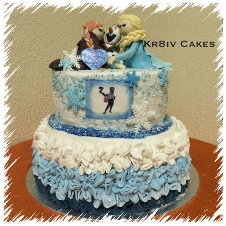 Funfetti Frozen 7 year old birthday cake