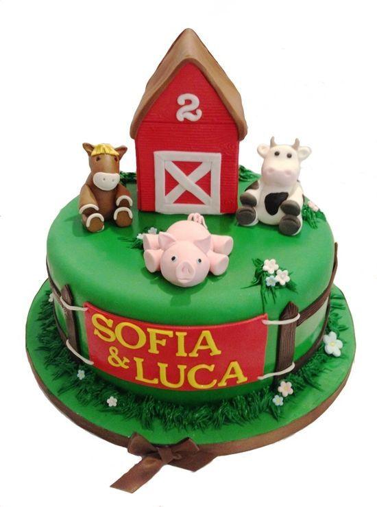 Farm Animal Birthday Cake Kits