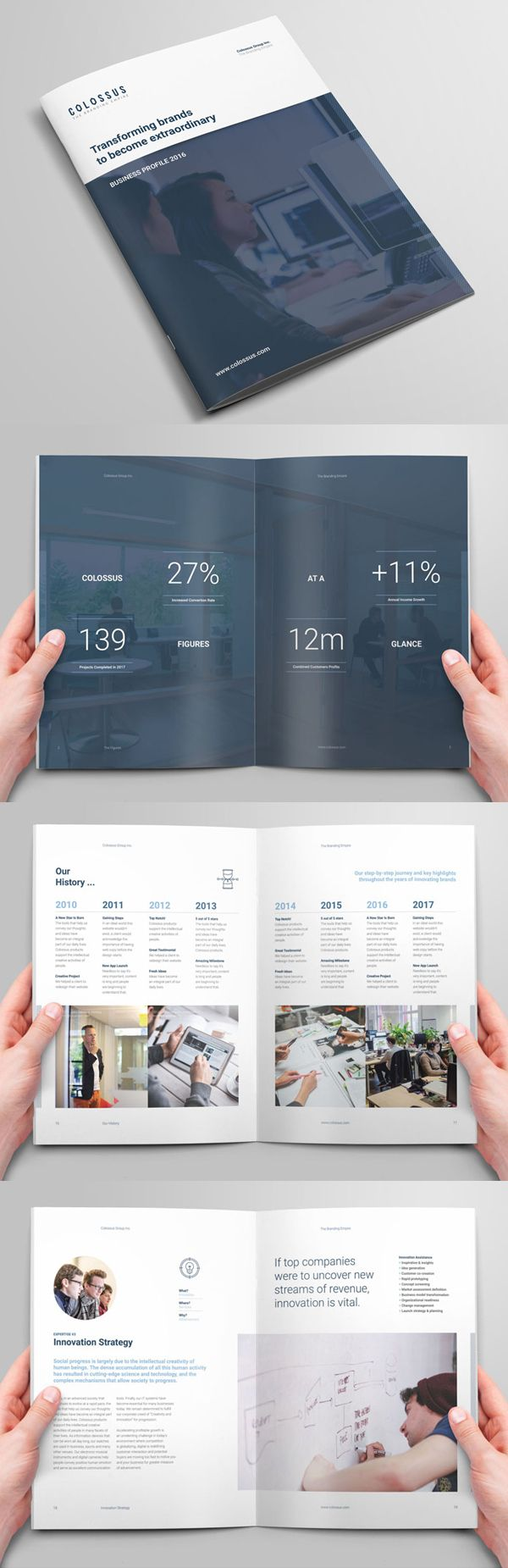 Corporate Profile Brochure #annualreport #booklet #brochuredesign #brochuretemplates #fashioncatalog #catalogdesign