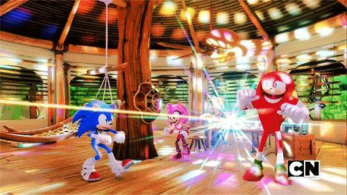 Sonic Boom Dance Party. How big their mouths are kinda freaks me out.