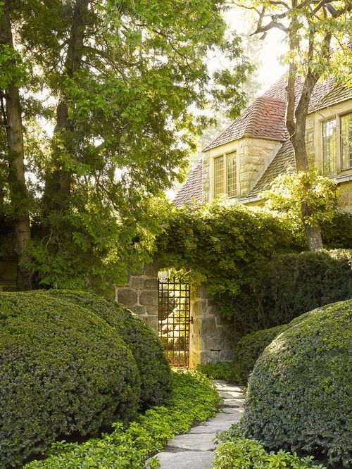 Traditional luxury, here in NY. Doyle Herman Landscape Design Associates.
