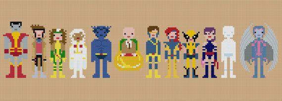 Pixel People Patterns for X-Men!