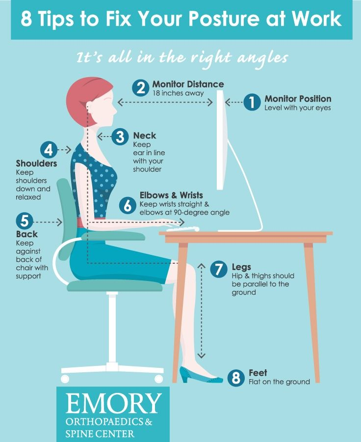 For the average working American, it is common to sit a minimum of eight hours a day and a majority of that behind a computer. I frequently see patients with neck and back pain that are not related to a specific injury, but rather from spending many ho...