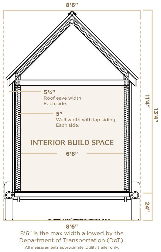 tiny house trailerinterior dimensions utility trailer