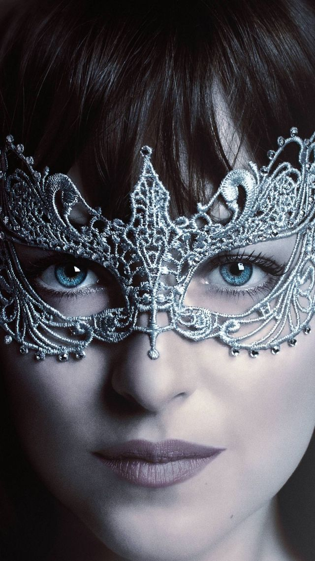 Fifty Shades Darker, Dakota Johnson, mask, best movies (vertical)