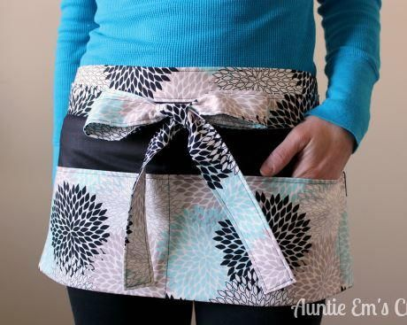 This Basic Utility Apron tutorial is a great project for beginners. The apron is the perfect free sewing pattern for day care teachers, craft shows, yard sales, and more!
