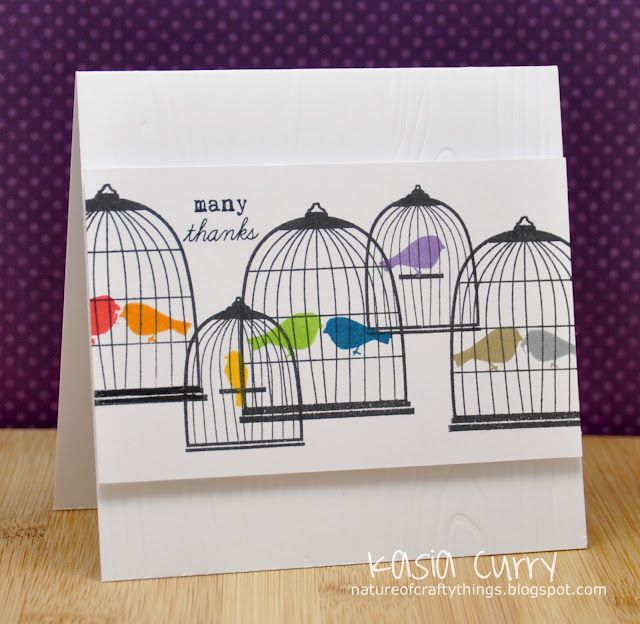 Love the rainbow of birds!Birds Cages, Birds Cards, Cards Ideas, Su Aviary, Crafty Things, Papertrey Ink, Cards Birds, Paper Crafts, Retrosketch 16