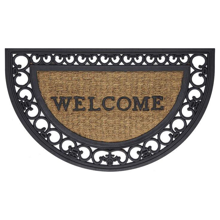 and Coir Fleur De Lis Welcome Mat