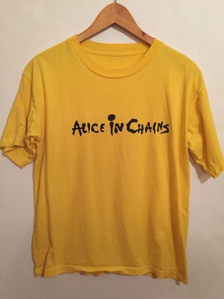 Alice In Chains T-shirt Vintage Logo Grunge Pearl Jam Seattle 90's Rock Metal