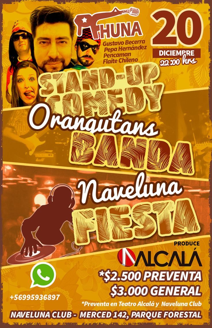 Afiche Stand-up Comedy