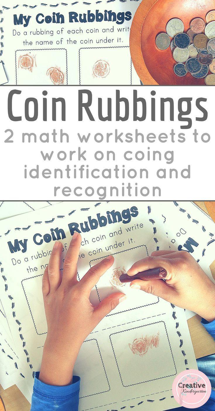 Coin Rubbings Worksheets For Kindergarten Math Center Kindergarten Money Activities Money Math Money Kindergarten [ 1400 x 735 Pixel ]