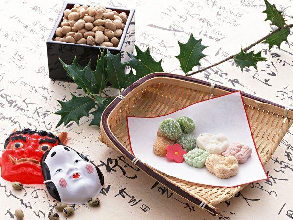 Fuku ha uchi!@Soy beans to throw for setsubun.Japanese candy