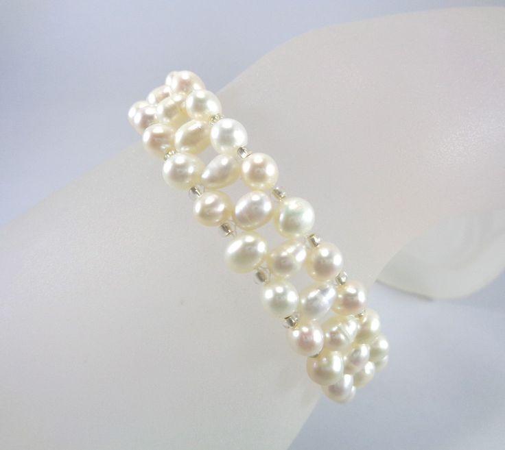 Bracelet en perles de culture d'eau douce de couleur naturelle. : Bracelet par boutique-astrallia