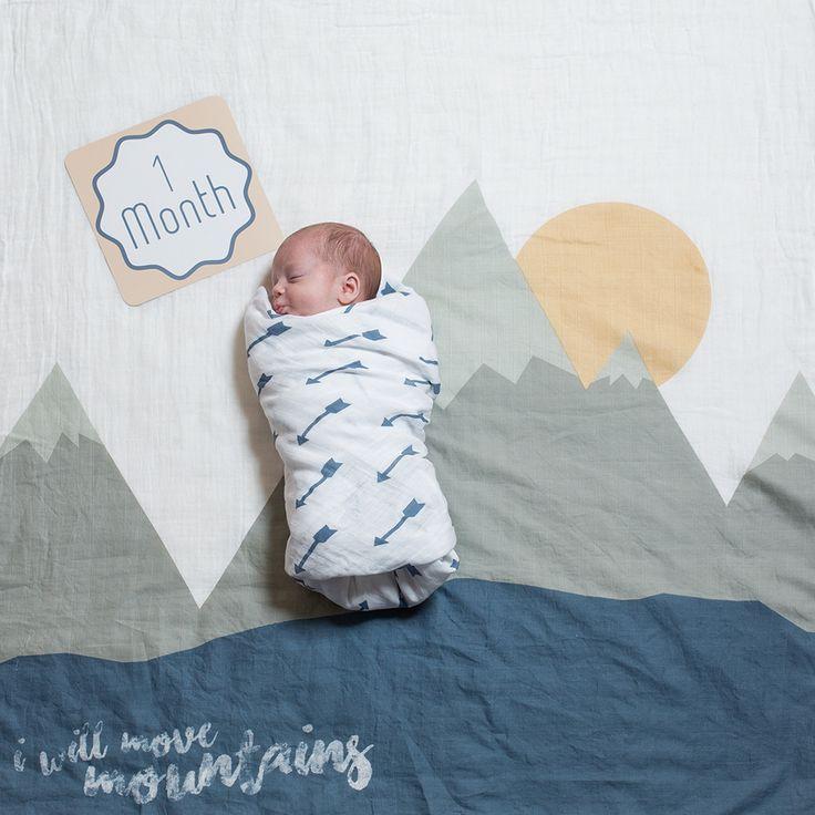 Lulujo Baby S First Year Milestone Blanket Cards Set