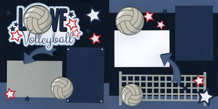 Volleyball scrapbook page