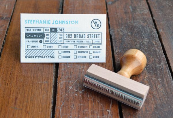 """Letterpressed on Crane Paper: """"A stationery set makes so much more sense when it includes a pint glass labelled """"Creativity Fluid"""". Clearly the juices are flowing at W/S, where the motto """"find happiness in your work"""" pours through every rich detail. I'm finding happiness in my work just writing about them!"""" — JESSICA MULLEN"""